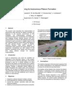 Path Planning for Autonomous Platoon Formation