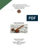Ensayo Opinático-Derecho Tributario