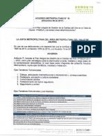 Acuerdo Metropolitano 16