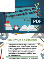 Mathematical Reasoning and Problem Solving Strategies