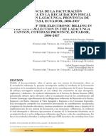 Incidencia de La Facturacion Electronica en La Recaudacion Fiscal de Latacunga
