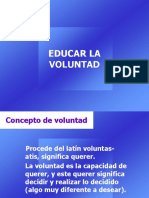Educar La Voluntad
