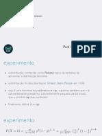 Probabilidade e Estatística - distribuição Poisson
