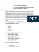 AA1 Ev1 Desarrollo Del Cuestionario Infraestructura Tecnologica de La Organizacion