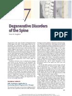 degenerative disorders -spine