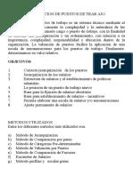 Valuacion de Puestos -Remuneraciones 2017doc Corregido