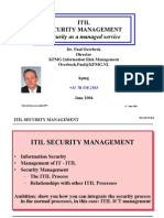 ITIL Security Managmnet