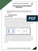Informe Final de Prueba en Corto Circuito Del Transformador Monofasico (1)