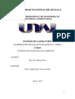 Informe 1 Elaboracion de Galleta de Quinua y Trigo
