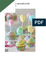 cupcakes caramelo de algodon