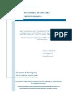 Mecanismos de trasmición de la política monetaria