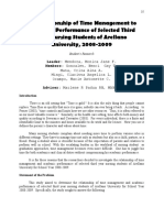 Philippine EJournals_ the Relationship of Time Management to Academic Performance of Selected Third Year Nursing Students of Arellano University, 2008-2009
