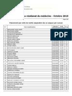 Affichage Resultat Ord Merite Oran 2019