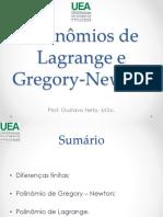 Polinomios de Lagrange e Gregory Newton