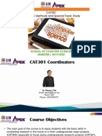 CAT301-Overview-2019-2020
