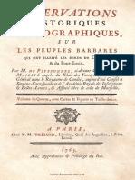 Peyssonne - Observations (sur les roumains)