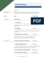 Board Meeting Agenda FR