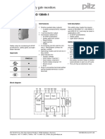 E-STOP relays, safety gate monitors