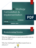 Lecture 5 - Strategy Formulation and Implementation -Lms