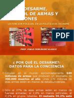 LEY DE DESARME y FUNCION POLICIAL (PRESENTACIÓN)