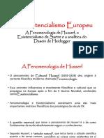Aulas 12 e 13 - O Existencialismo Europeu