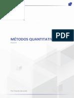 Métodos Quantitativos - Aula 4
