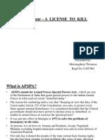 AFSPA- A License to Kill