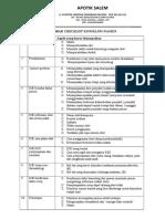 Checklist Konseling Pasien