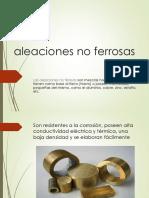 Diapositivas Resumen 13 Aleaciones No Ferrosas