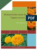 Bioinsecticida Apartir de Tagetes Erecta