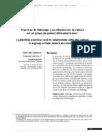 PRACTICAS DE LIDERAZGO Y SU RELACIÓN CON LA CULTURA EN UN GRUPO DE PAISES LATINOAMERICANOS