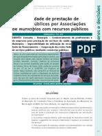 IMPOSSIBILIDADE DE PRESTAÇÃO DE SERVIÇOS PÚBLICOS