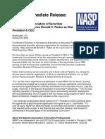 Ron Parker NASP Press Release