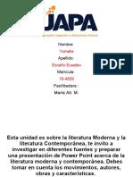 Literatura Moderna y Contemporanea Tarea 1