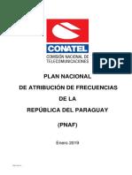 Plan de Atribucion 2019 Conatel