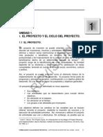 Lectura 1. El Proyecto y El Siclo Del Proyecto