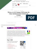 Faire Un Mini Traceur CNC Avec de Vieux Lecteurs DVD Arduino Et L293D Fr