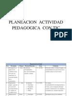 planeacion de actividad pedagogica  con inclusion de tics