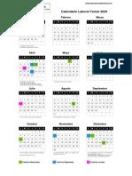 Calendario Laboral 2020 Teruel