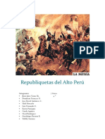 Republiquetas Del Alto Perú