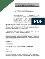 Decreto municipal n 155, de 02 de outubro de 2015