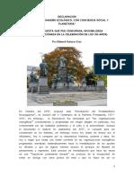 Edward Salazar Cruz (2017) Declaracion Del Protestantismo a 500 Años de Reforma Protestante Occidental