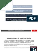 Aranceles Traduccion e Interpretacion
