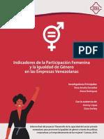 Indicadores Participación Femenina e Igualdad de Género