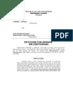 Sc Petition Servo vs. Pdic