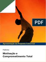 Apresentação Da Proposta Comercial. Palestra. Motivação e Comprometimento Total - PDF