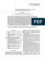 A Theory of the Operation of Full Scale Activated Sludge Plants