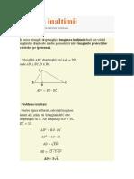 Teorema Inaltimii