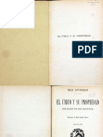 Stirner, Max - El Único y Su Propiedad (Vol. II) [Escaneado]