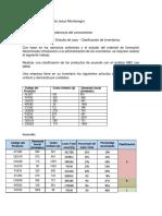 Evidencia de Producto 1 Estudio de Caso Clasificación de Inventarios
